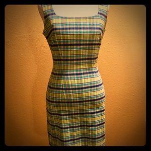 Plaid Mini Sheath Dress - Size 3/4